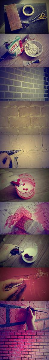 Jak zrobić imitację cegiel na ścianie